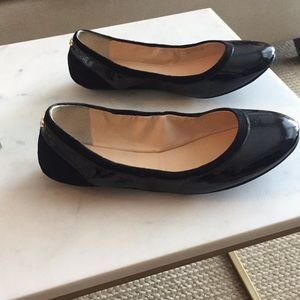 Black Cole Haan Patent Leather Ballet Flats